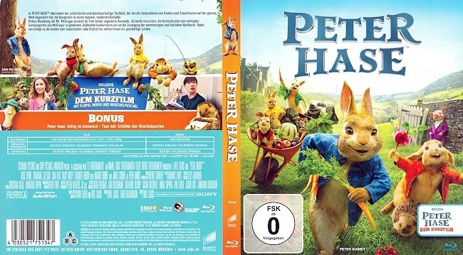 Peter Hase Cover German Deutsch german blu ray cover