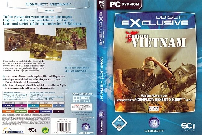 Conflict Vietnam Ubisoft PC Cover Deutsch German pc cover german