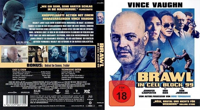 Brawl In Cell Block 99 Cover German Deutsch german blu ray cover