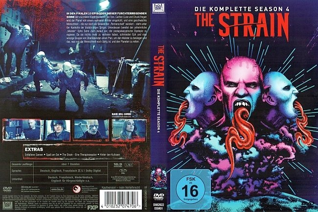 The Strain Staffel 4 DVD Cover Deutsch German german dvd cover