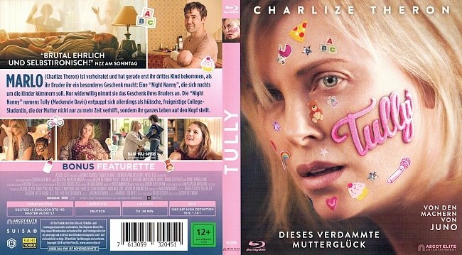 Tully Cover German Blu ray Film german blu ray cover