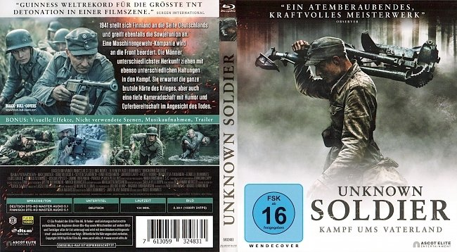 Unknown Soldier Cover Deutsch German Kampf ums Vaterland german blu ray cover