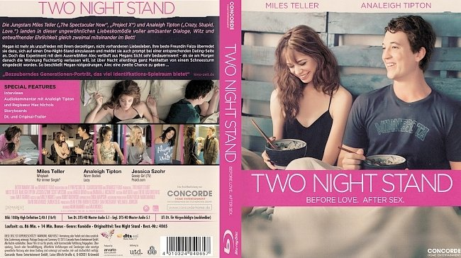 Two Night Stand german blu ray cover