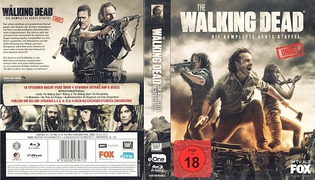 The Walking Dead Staffel 8 S08 German Deutsch blu ray cover german