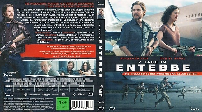 7 Tage in Entebbe Cover Deutsch BD german blu ray cover