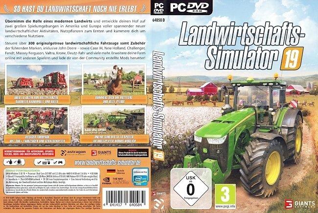 Landwirtschafts Simulator 19 PC Cover Deutsch German pc cover german