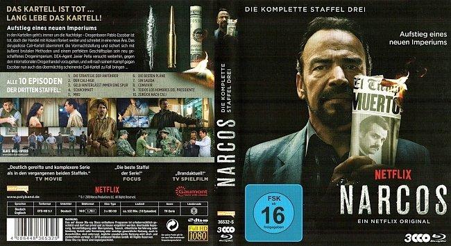 Narcos Season 3 S03 Cover Staffel 3 Deutsch German Bluray german blu ray cover
