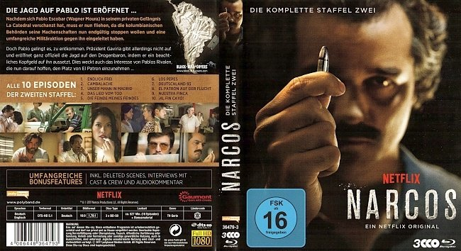 Narcos Season 2 S02 Cover Staffel 2 Deutsch German Bluray german blu ray cover