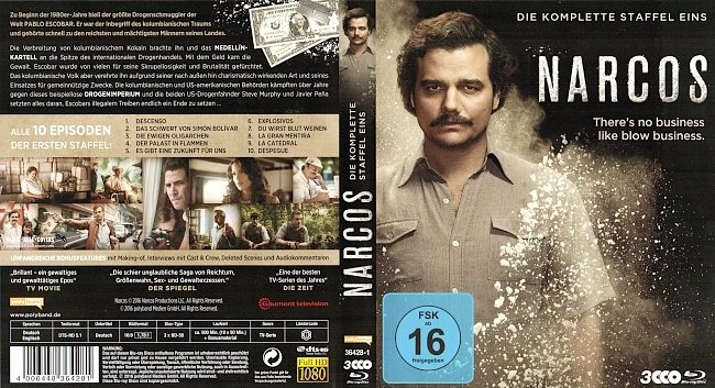 Narcos Season 1 S01 Cover Staffel 1 Deutsch German Bluray german blu ray cover