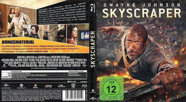 Skyscraper Cover Blu ray German Deutsch german blu ray cover