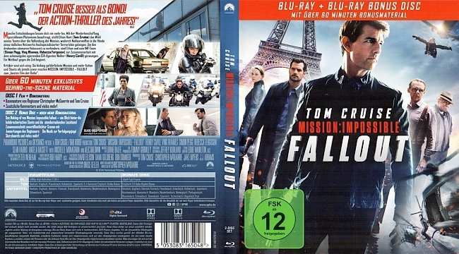 Mission Impossible 6 Fallout Cover Deutsch Tom Cruise german blu ray cover