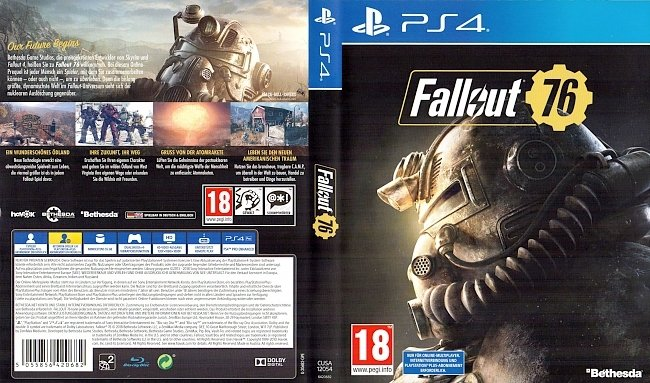 Fallout 76 Cover German Deutsch PS4 german ps4 cover