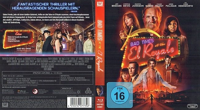 Bad Times at the El Royale Cover Blu ray Deutsch German german blu ray cover