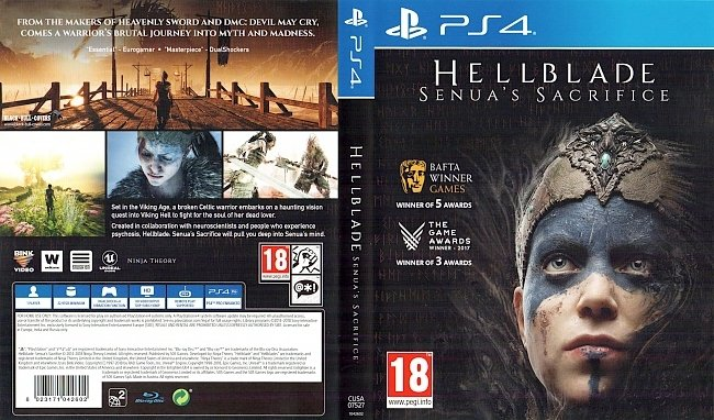 Hellblade Senuas Sacrifice PS4 Cover ps4 cover german