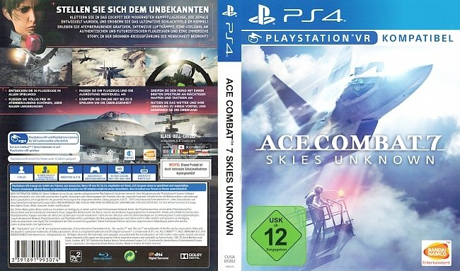 Ace Combat 7 Skies Unknown PS4 Cover Deutsch German german ps4 cover