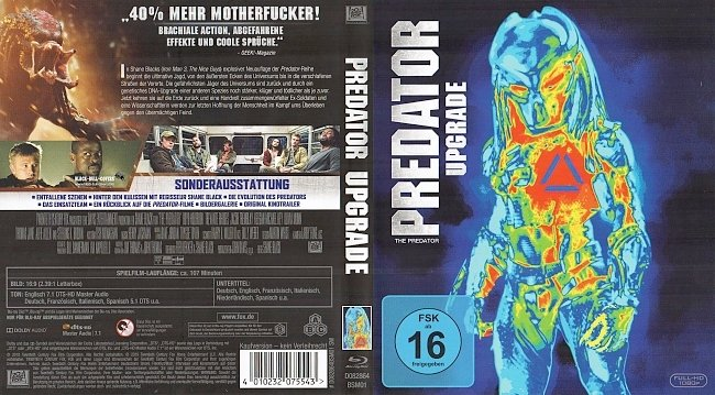 Predator Upgrade Cover Deutsch German Blu ray german blu ray cover
