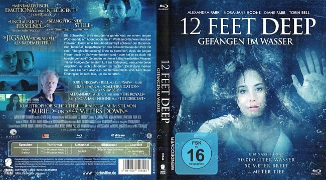12 Feet Deep Cover Deutsch Bluray German german blu ray cover