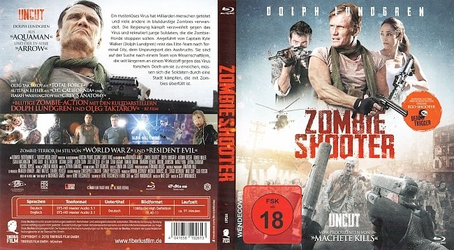 Zombie Shooter Cover Deutsch Dolph Lundgren Dead Trigger german blu ray cover