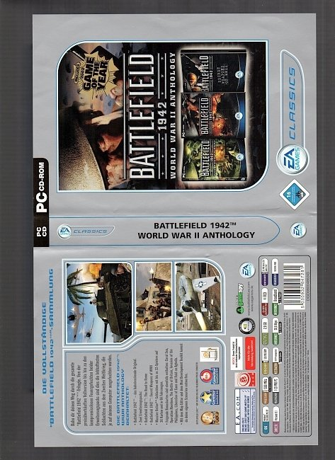 Battlefield 1942 World war 2 Anthology pc cover german