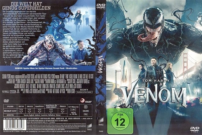 Venom DVD Cover German Deutsch German german dvd cover