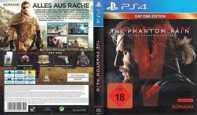 Metal Gear Solid V The Phantom Pain Cover PS4 Deutsch German german ps4 cover