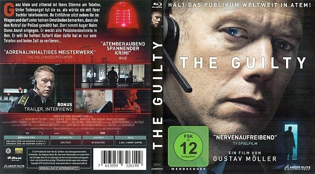 The Guilty Cover Deutsch German Bluray german blu ray cover