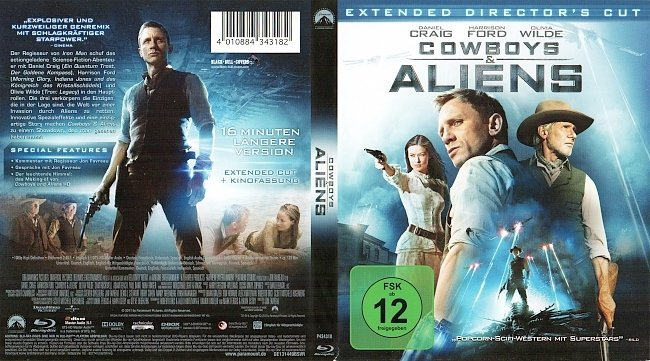Cowboys and Aliens Blu ray Deutsch German german blu ray cover