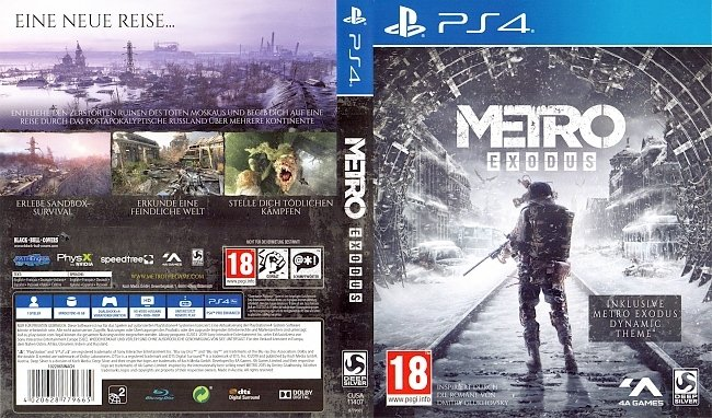 Metro Exodus PS4 Cover German Deutsch german ps4 cover