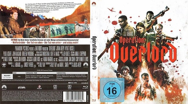 Operation Overlord Blu ray Cover German Deutsch german blu ray cover