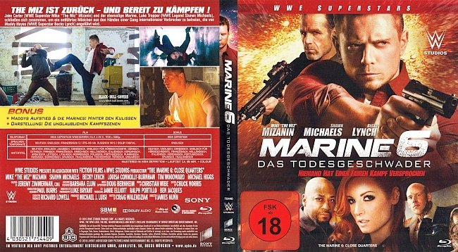 The Marine 6 Cover Bluray German Deutsch Todesgeschwader german blu ray cover