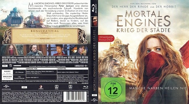 Mortal Engines Krieg der Staedte Cover Blu ray German Deutsch german blu ray cover
