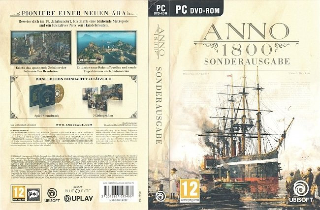 Anno 1800 pc cover german Game Covers German pc cover german