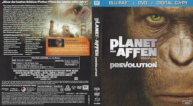 Planet der Affen Prevolution 2D Cover Deutsch ohne FSK german blu ray cover
