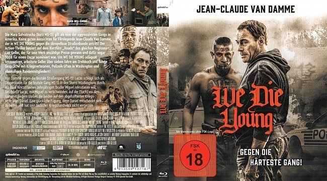 We Die Young Gegen die harteste Gang JeanClaude VanDamme Cover German Deutsch german blu ray cover
