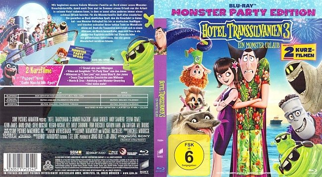 Hotel Transsilvanien 3 Cover Deutsch German Bluray german blu ray cover