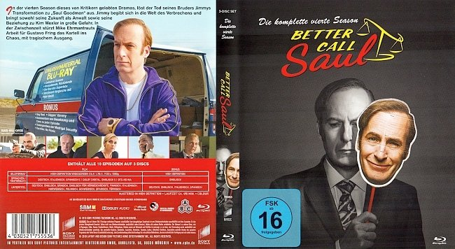 Better Caul Saul Staffel 4 Cover Deutsch German Blu ray 1 german blu ray cover