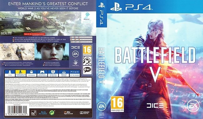 Battlefield 5 Cover Deutsch German PS4 Battlefield V german ps4 cover
