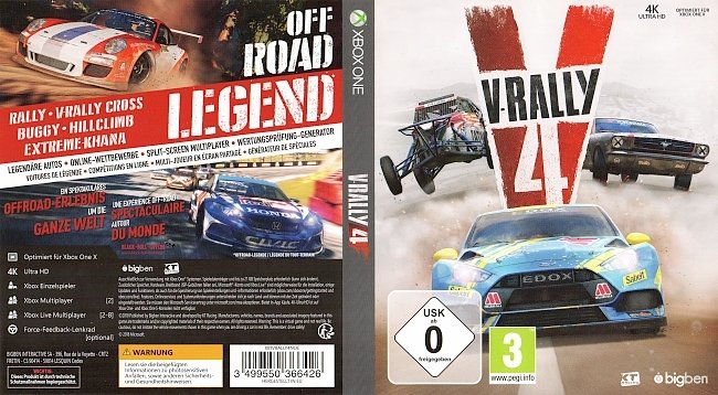 V Rally 4 XBox One Cover German Deutsch german xbox one cover