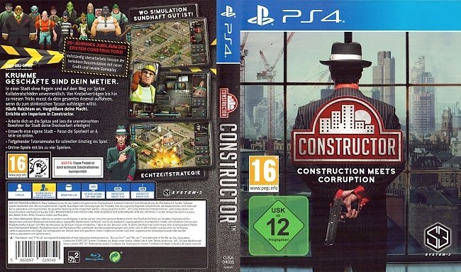 Constructor PS4 Deutsch German Cover Test Review german ps4 cover