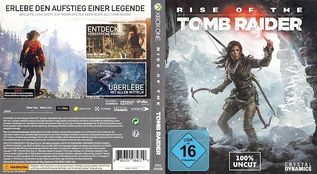 Rise of the Tomb Raider XBox One Cover German Deutsch GameMoviePortal german xbox one cover
