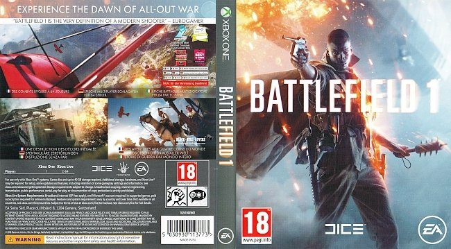 Battlefield 1 XboxOne Cover German Deutsch german xbox one cover