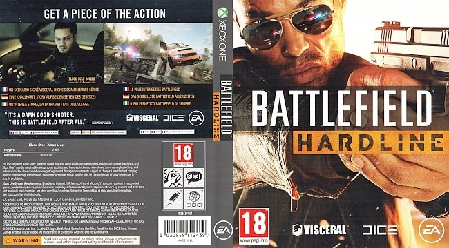 Battlefield Hardline Cover Xbox One Deutsch Game German german xbox one cover