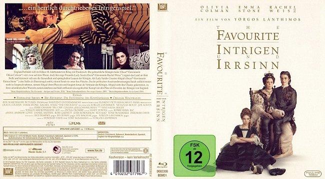 The Favourite Intrigen und Irrsinn Cover Deutsch German Bluray german blu ray cover