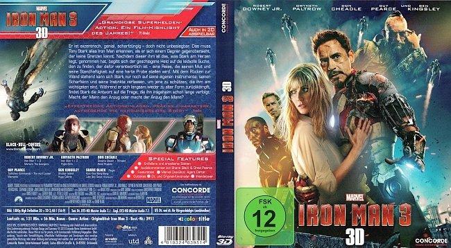 Iron Man 3 3D Blu ray Cover German Deutsch german blu ray cover