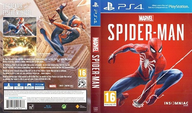 Spider Man Marvel PS4 Game Cover Deutsch German german ps4 cover