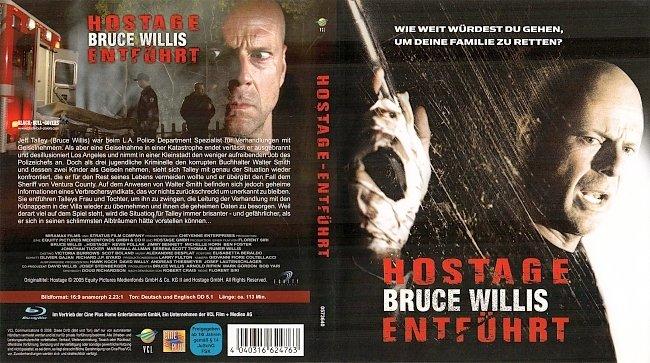 Hostage Cover Blu ray Bruce Willis German Deutsch german blu ray cover