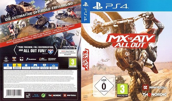 MX vs ATV All Out PS4 Cover German Deutsch german ps4 cover
