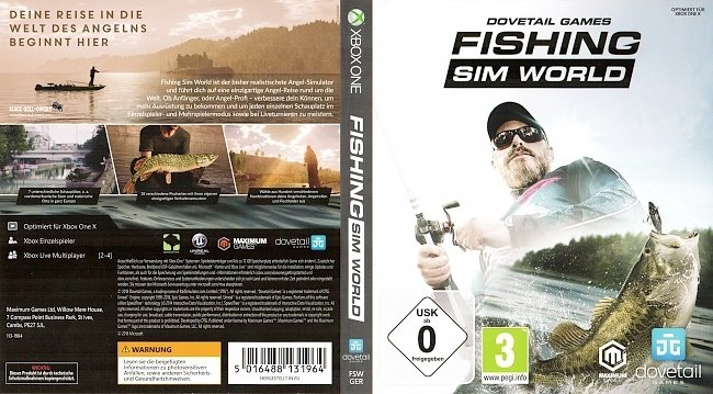 Fishing Sim World Xbox One Cover Deutsch German german xbox one cover