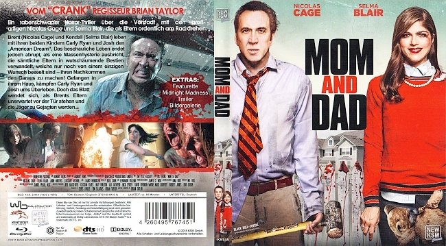 Mom and Dad ohne FSK blu ray cover german