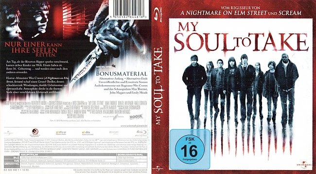 My Soul to Take Blu ray Cover Deutsch German Wes Craven german blu ray cover